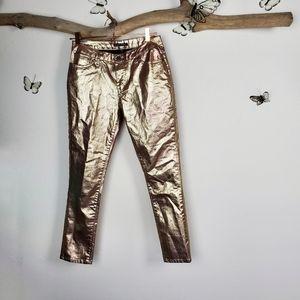 Boston proper gold foil pants